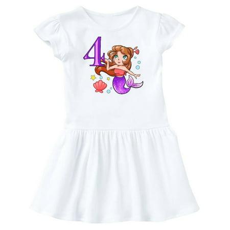 Mermaid Toddler Dress (Mermaid Fourth Birthday purple tail Toddler)