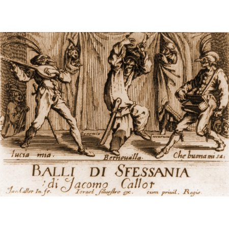 Characters In A Comic Theater Performance In 17Th Century Neopolitan Italy From A Book Of Engravings History