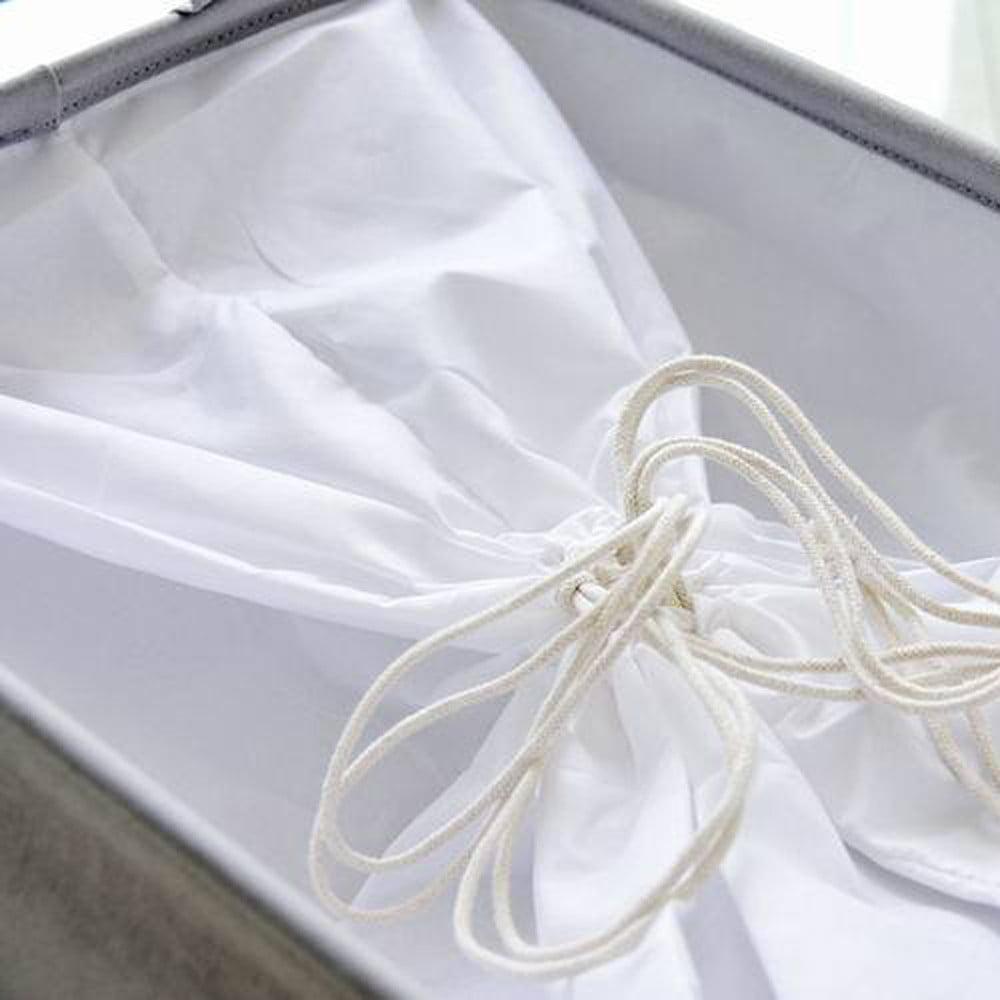 Mosunx Cotton Linen Waterproof PE Coating Storage Basket Sundries Storage Box