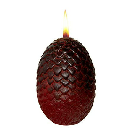 Game of Thrones Sculpted Dragon Egg Candle - Red - 2 1/2