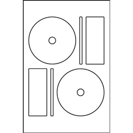 Memorex Compatible Full Face DISC CD DVD Labels with Small Core Center (2 Labels Per Sheet, White, 50 (Memorex White Cd Labels Matte Finish 300 Count)