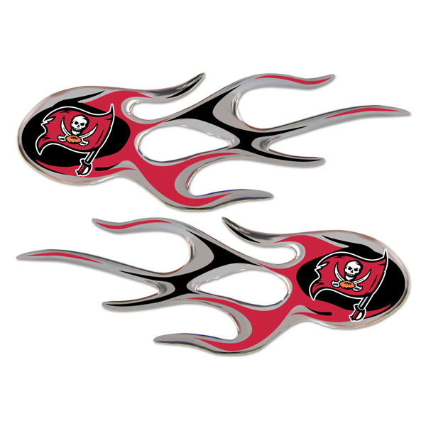 Tampa Bay Buccaneers Official NFL 10 inch  x 7.5 inch  Micro Flames Graphics by Team Promark