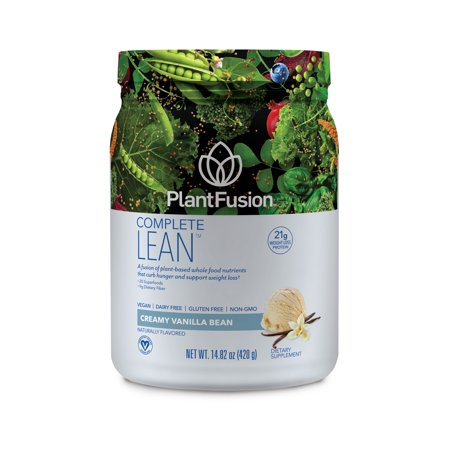 PlantFusion Lean Plant Based Weight Loss Protein Powder, Vanilla Bean, 14.8 Oz, 10