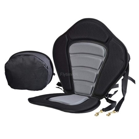 Deluxe Kayak Seat Pad Hot Seat Adjustable Safe Padded with Detachable Back Pack Practical, Material: Nylon, EVA and Metal By Canoe