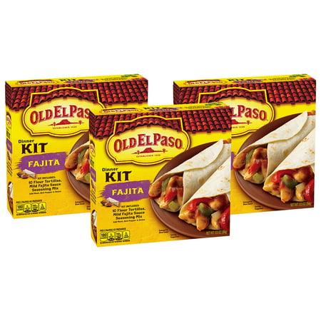 (3 Pack) Old El Paso Fajita Dinner Kit, 12.5 oz - Home Goods El Paso