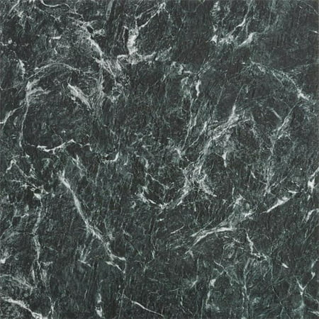 18 x 18 in. Majestic Verde Green Marble Self Adhesive Vinyl Floor Tile - 10 Tiles by 22.5 sq.