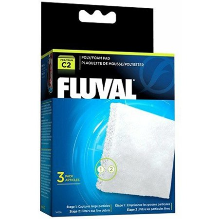 RC Hagen 14008 Fluval C2 Poly Foam Pad 3-pack