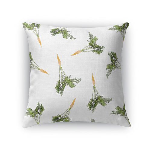 KAVKA DESIGNS Lots of Carrots for Easter Throw Pillow