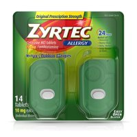 Zyrtec Prescription-Strength Allergy Medicine Tablets With Cetirizine, 14 Count, 10 mg
