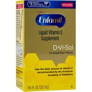 Enfamil D-Vi-Sol Vitamin D Supplement Drops 50 mL (Pack of 2)