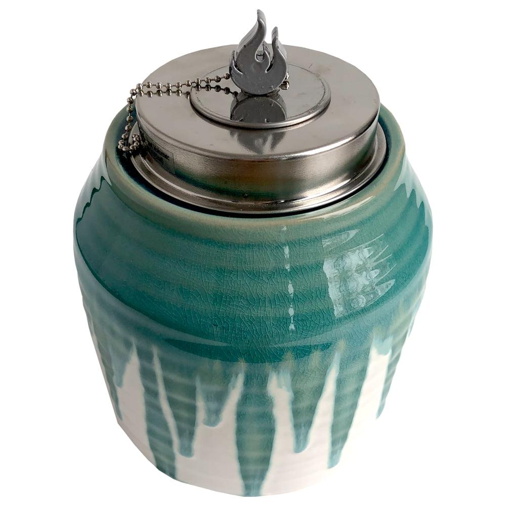 Better Homes & Gardens Decorative Glazed Ceramic Rania Outdoor Tabletop Torch, 5.1 fl oz