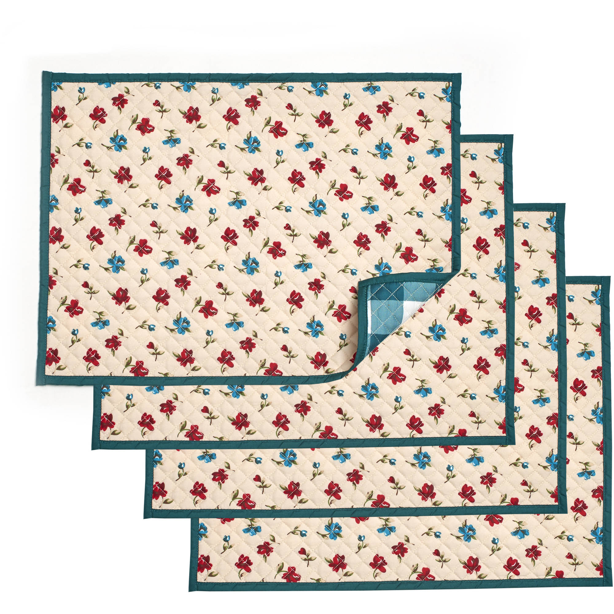 Pioneer Woman Posies Reversible Placemats, Pack of 4