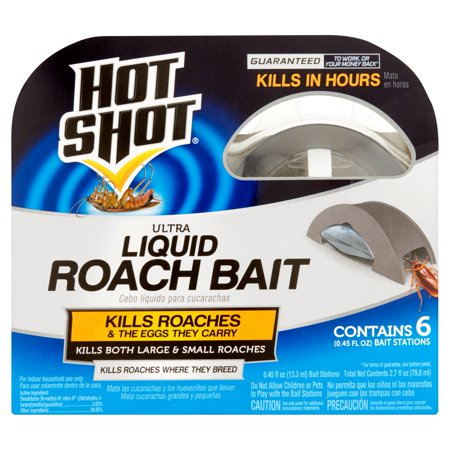 Hot Shot Ultra Liquid Roach Bait  6 Ct