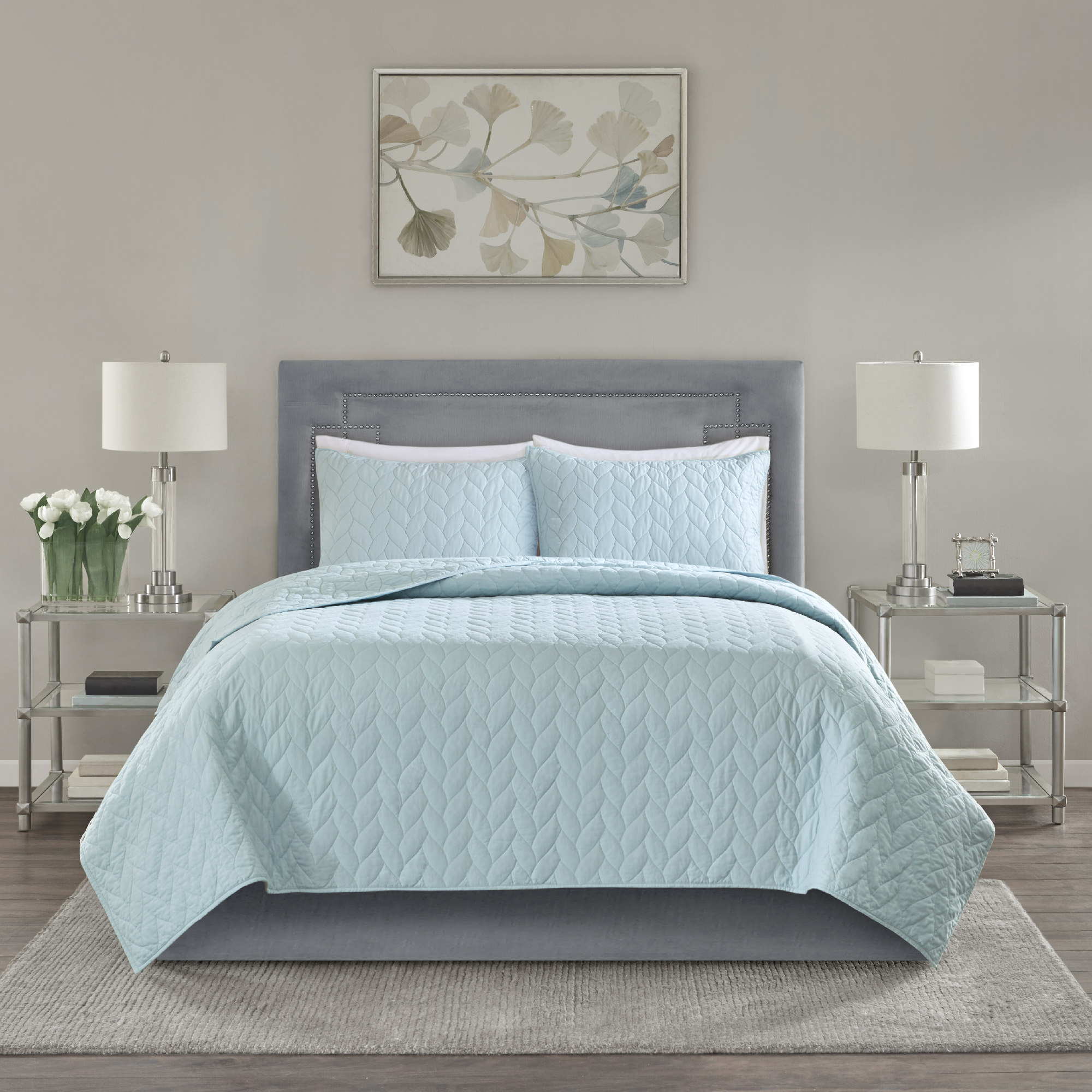 Home Essence Wiley Super Soft 3 Piece Coverlet Set