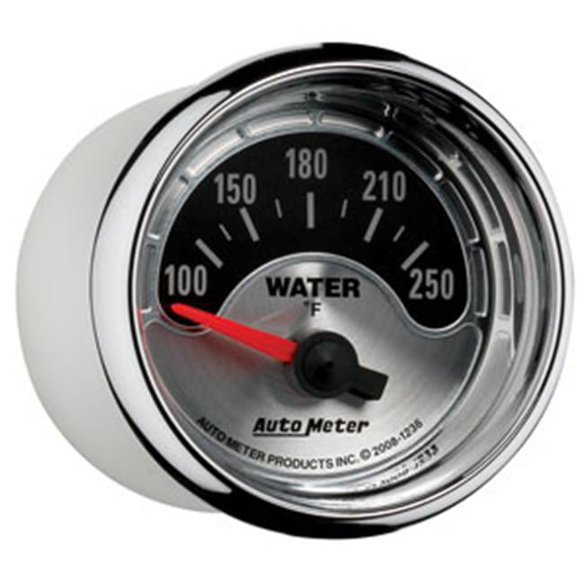 Auto Meter 1236 American Muscle 2-1//16 Short Sweep Electric Water Temperature Gauge