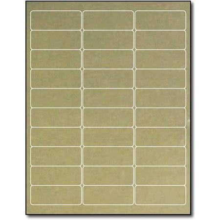 """Gold Foil Address Labels for Laser Printers (2 5/8"""" x 1"""") - 10 Sheets / 300 Labels"""