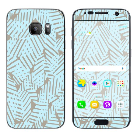 Skin Decal For Samsung Galaxy S7 / Blue Beige Pattern