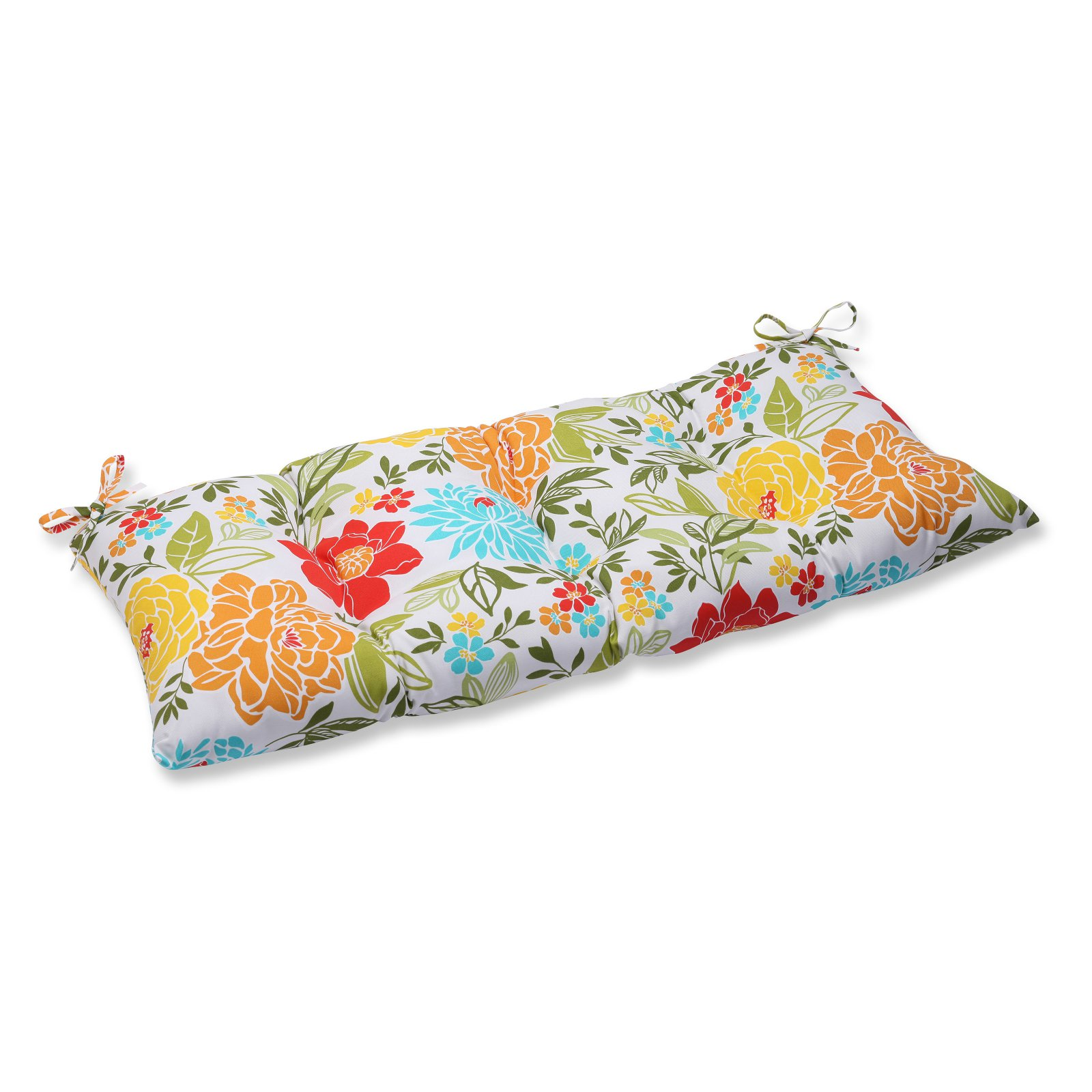 Pillow Perfect Outdoor/ Indoor Spring Bling Multi Wrought Iron Loveseat Cushion