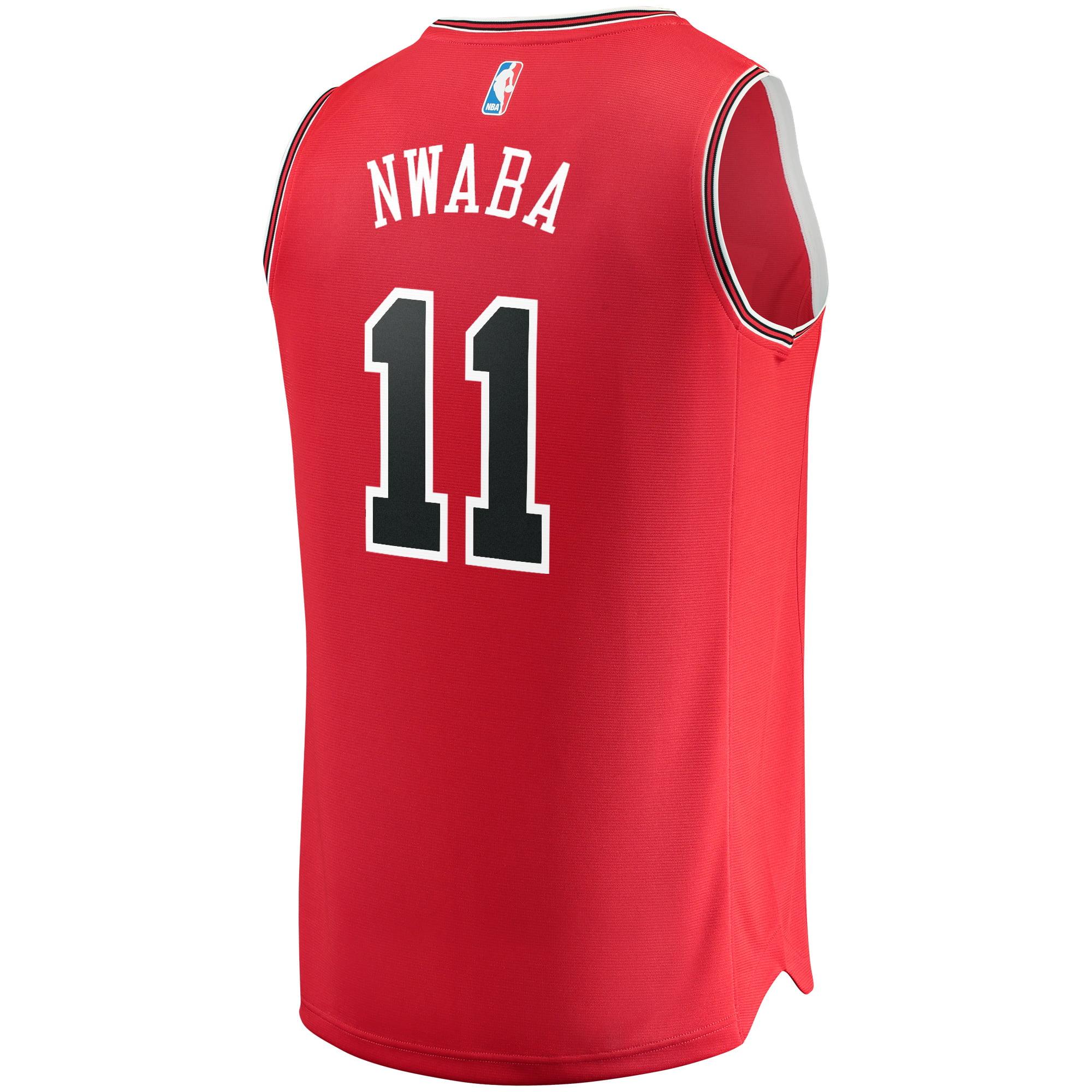 sale retailer 5e962 8351d David Nwaba Chicago Bulls Fanatics Branded Fast Break Road Replica Player  Jersey Red - Icon Edition