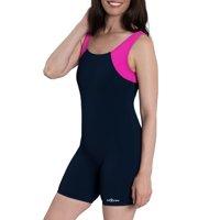 a1c9429ac67 Product Image Aquashape Color Block Aquatard Swimsuit in Navy Bright Pink