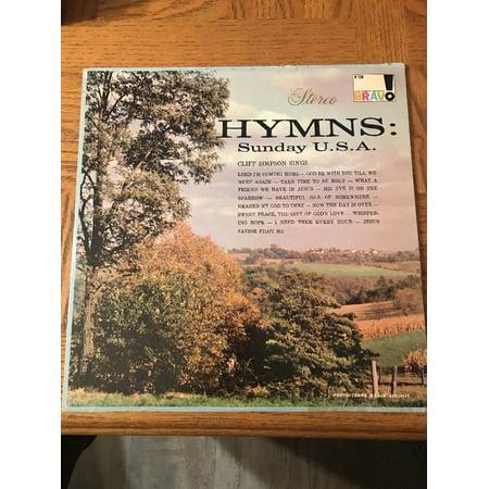 Cliff Simpson Sings Hymns Sunday U.S.A. Gospel Music LP Album