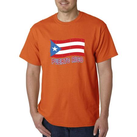 Trendy USA 720 - Unisex T-Shirt Puerto Rico Flag PR Distressed Large