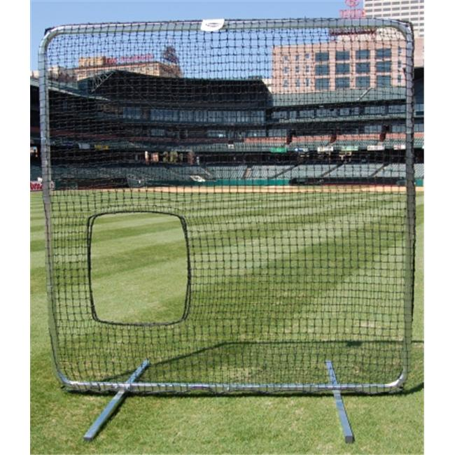 Trigon Sports B427780 ProCage Premium So ftball Pitcher Protective Screen 7 ft. x 7 ft withNet