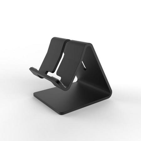 Insten Aluminum Alloy Metal Stand Desktop Dock Cradle Station Bracket Holder Universal Mount For Smartphone Tab   Black