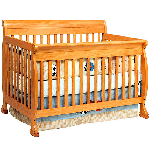 Baby Mod - Cadence 4-in-1 Convertible Crib, Honey Oak