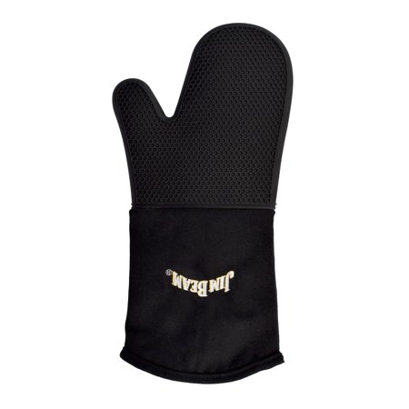 Jim Beam Soft and Comfortable Black Silicone Grilling Mitten
