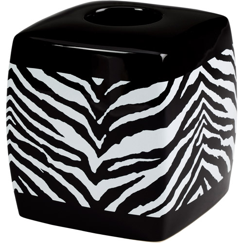 Creative Bath Zebra Boutique Tissue Box