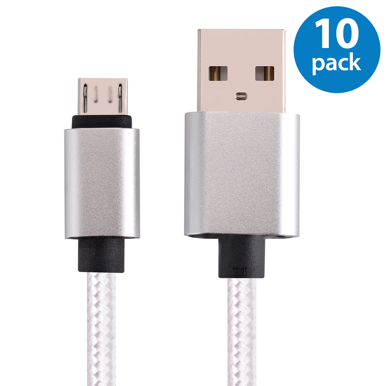 10x Afflux 10FT Micro USB Adaptive Fast Charging Cable Co...