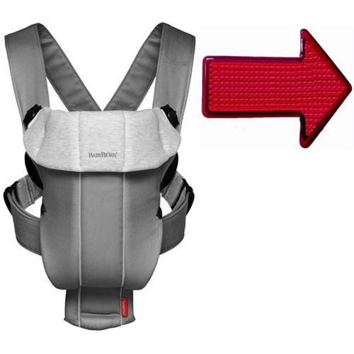 Baby Bjorn 023084USKT Baby Carrier Original Dark Gray Gray with Safety Reflec by BabyBj%C3%B6rn