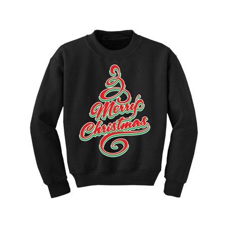 Awkward Styles Ugly Christmas Sweater for Boys Girls Kids Youth Merry Xmas Tree Sweatshirt ()