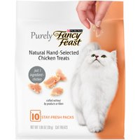 Fancy Feast Natural Cat Treats Purely Natural Hand-Selected Chicken - 10 ct. Pouch