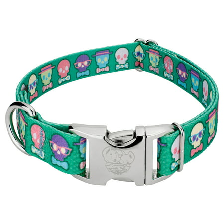 Country Brook Petz® Premium Dapper Skulls Dog Collar