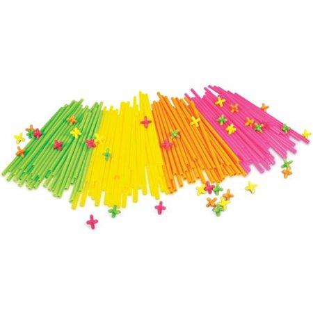 Straws & Connectors 300 Pieces Neon (Straws And Connectors)
