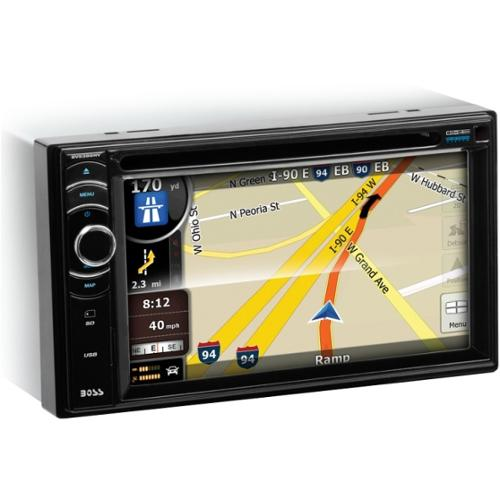 Boss Audio BV9386NV Double-DIN 6.2 inch Touchscreen DVD Player Receiver GPS Navigation, Bluetooth, Wireless Remote - 6.2