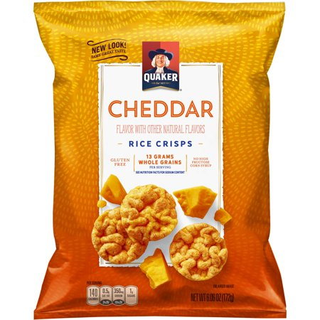 Cheddar Cheese Rice - Quaker Rice Crisps, Cheddar Cheese, 6.06 oz Bag (Packaging May Vary)