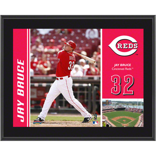 MLB - Jay Bruce Plaque | Details: Cincinnati Reds, Sublimated, 10x13, MLB Plaque