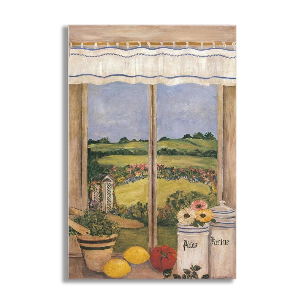 Stupell Country Side with Shutters Faux Window Scene