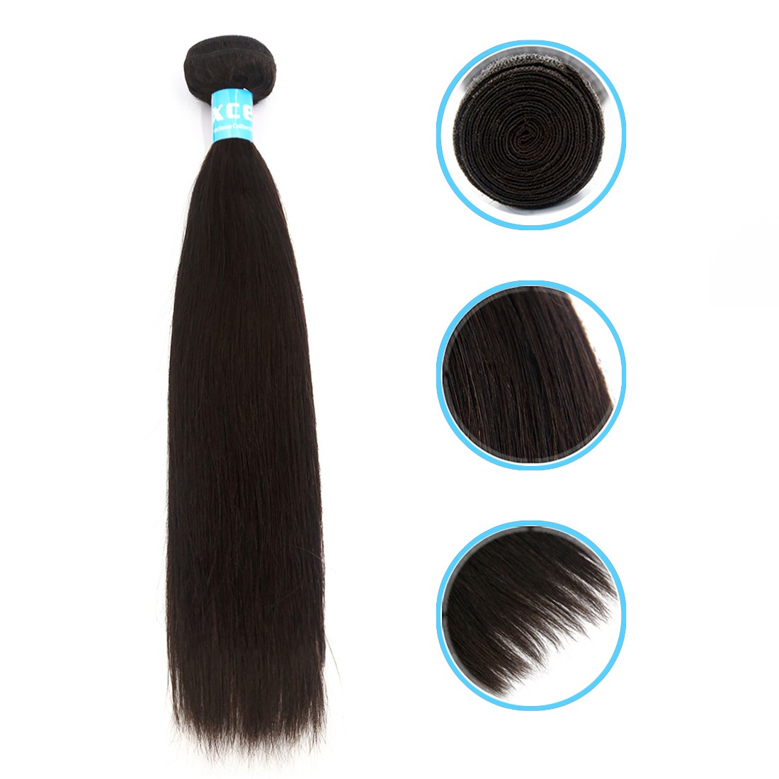 """Unique Bargains Brazilian Remy Silky Straight Human Hair Weft Extensions 6A 24"""" 1 Bundle"""