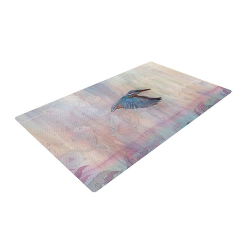 East Urban Home Mat Miller Terror from Above Pink Area Rug