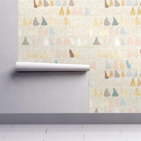 Peel-and-Stick Removable Wallpaper Earthen Tassel Tassels Neutrals Home Decor (Tassel Wallpaper)