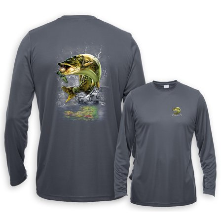 UV Performance Long Sleeve Jumping Muskie Muskellunge Fishing Control Uv Long Sleeve Top