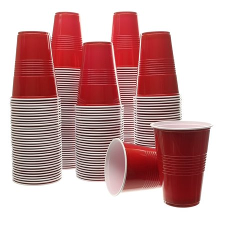 Bombed Beer (Party Bargains Red Plastic Cups | Plastic Shot Glass, Jello Shots, Jager Bomb, Beer Pong | Perfect Size for Serving Condiments, Snacks, Samples and Tastings | 16 Oz. Cup |)