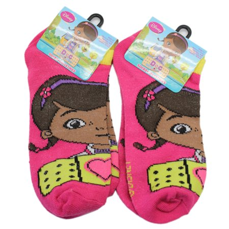 Disney Junior's Doc McStuffins Magenta Colored Socks (2 Pairs, Size 6-8) - Doc Mcstuffin Shoes For Toddlers