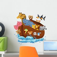 Noahs Ark Wall Decal Mural by Wallmonkeys Peel and Stick Graphic (18 in W x 17 in H) WM154157