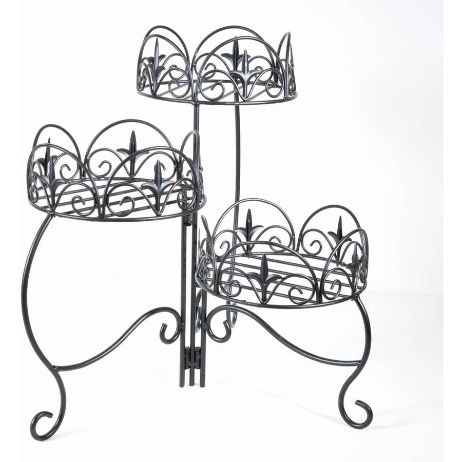 Panacea Classic Finial 3-Tier Folding Plant Stand