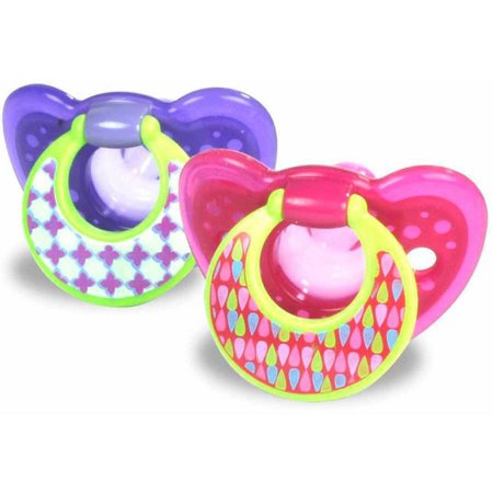 The First Years Gumdrop Toddler Pacifier, 6-18 Months, Purple - 2 Counts - Blinkies Toy
